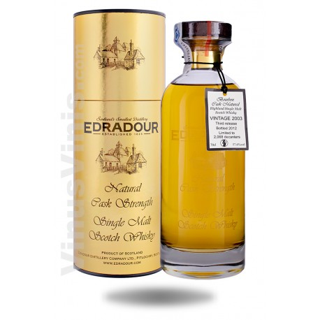 Whisky Edradour 2003 Bourbon Cask Matured Natural Cask Strength - Ibisco Decanter