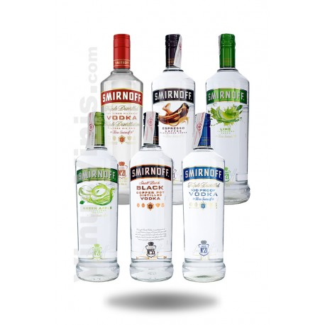 Pack Vodka Smirnoff Sabores (1L)