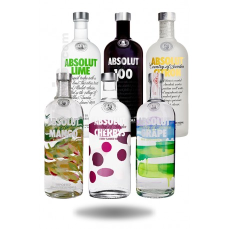 Pack Vodka Absolut Flavors (1L)